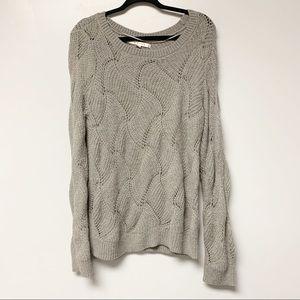 LC Lauren Conrad Gray Knit Sweater L